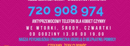 Telefon antyprzemocowy Fundacji Feminoteka